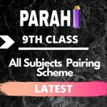 All Subjects 9th Class Pairing Scheme