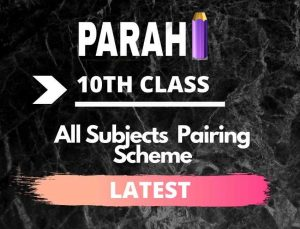 All Subjects 10th Class Pairing Scheme