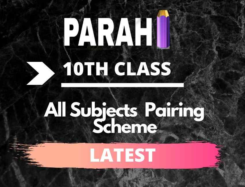 All Subjects 1st Year Class Pairing Scheme