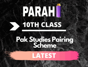 Pakistan Studies 10th Class Pairing Scheme