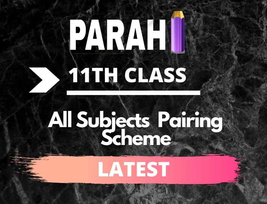 All Subjects Paper Scheme of 1st Year
