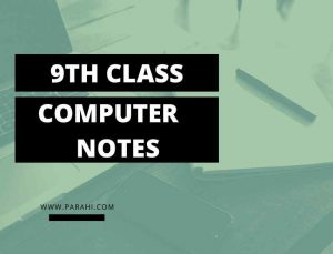 Computer Science 9th Class Notes